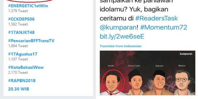 Heboh Tagar #TolakKumparanPKI di Twitter, Kumparan Diduga Media Pro PKI Pemuja AIDIT