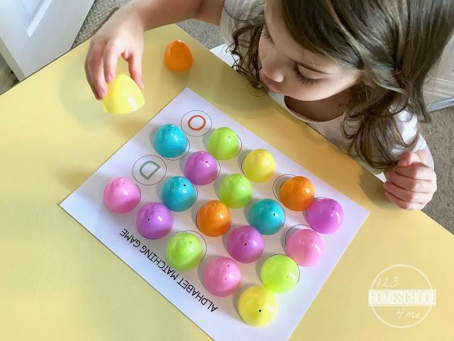 easter eggs game for toddler, preschool, kindergarten