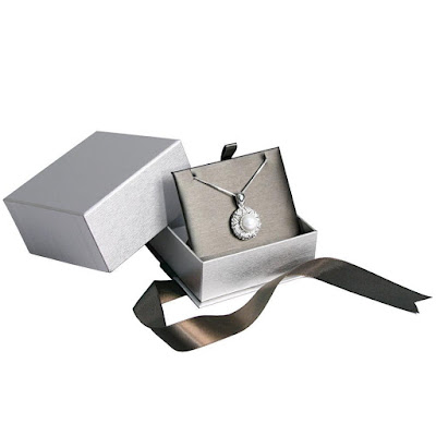 Shop Wholesale Elegant Steel Gray Bowtie Pendant or Earring Boxes at NileCorp.com