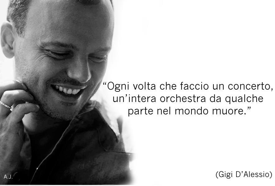 Conosciuto Gigi D'Alessio - Concerto ~ Citazioni e frasi improbabili dei  FT24