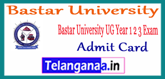 Bastar University Annual Exam UG 1st 2nd 3rd Year Time Table 2018