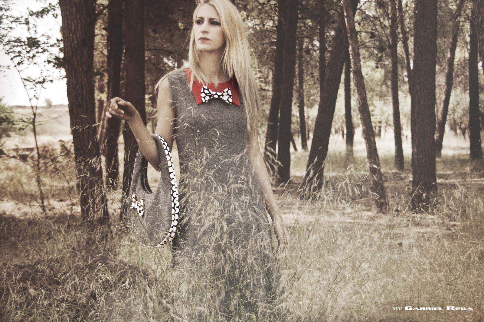 wool boucle dress by Senorita Martita