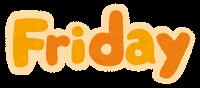 「Friday」のイラスト文字