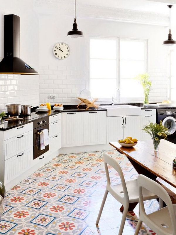 Ideas For Decorating With Cement Tiles or Hydraulic Tiles 8
