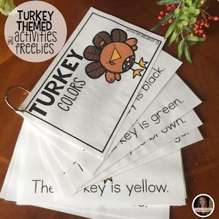 Turkey Colors is a fun hands on activity to help students work on color identification. #Turkeyactivities #preschool