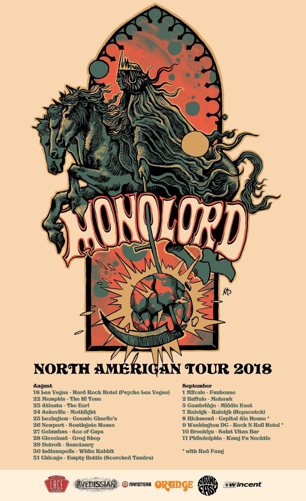 MONOLORD announce U S  headlining tour following Psycho Las Vegas