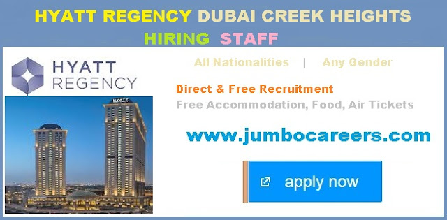 How to apply for Hyatt Regency Dubai Creek Heights Jobs   | Hyatt Regency Dubai Creek Heights Job Salary   | Hyatt Regency Dubai Creek Heights latest jobs, Front office jobs at Hyatt Regency Dubai Creek Heights, Sales and marketing jobs at Hyatt Regency Dubai Creek Heights