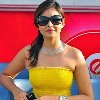 Madhu shalini hot photos in yellow dress
