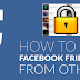 How to Facebook Friend List Hide