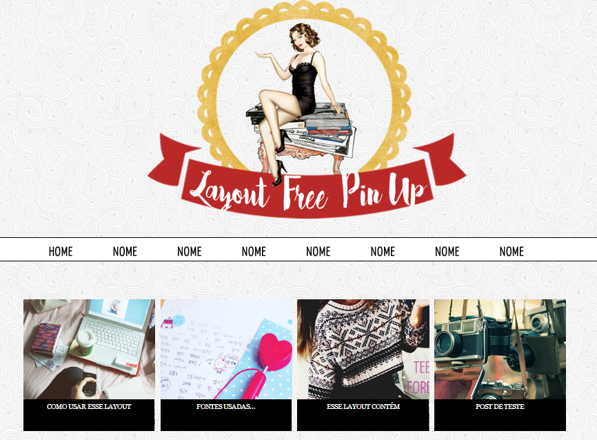 Layout Free Pin Up para blogger