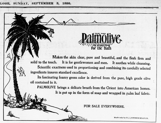 Palmolive Soap, ad September 3, 1899