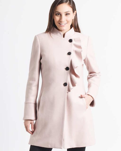cappotto rosa femminile