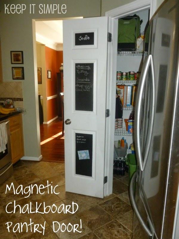 Magnetic Chalkboard Pantry Door