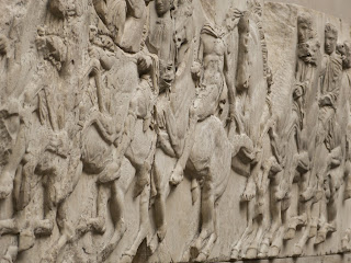 Some of the Parthenon sculptures in the British Museum