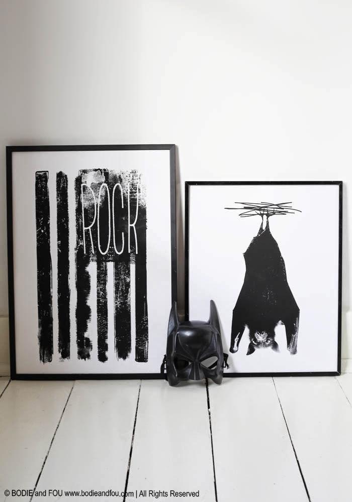 monochrome posters