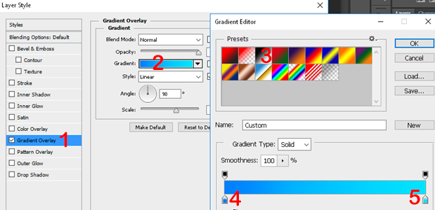 Set Gradient Overlay to get a more than one variety of the same color.