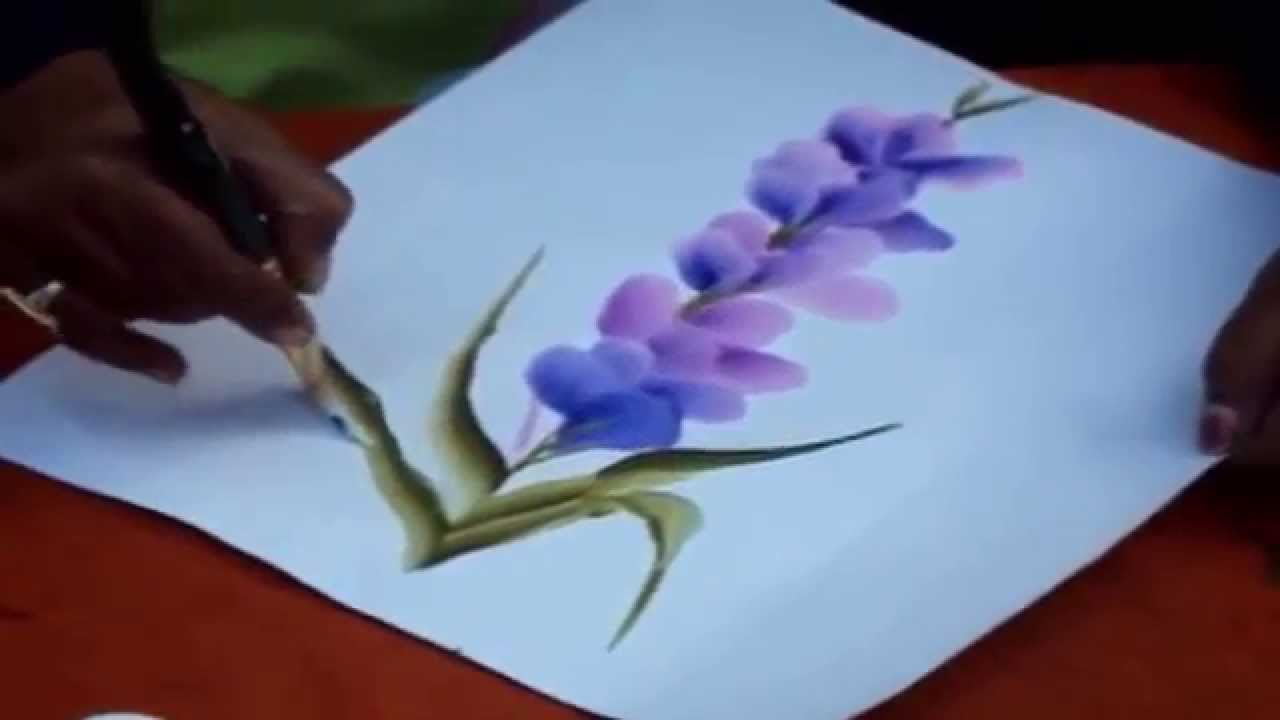 Learn Different Types Of Flowers From One Stroke Painting Crazzy
