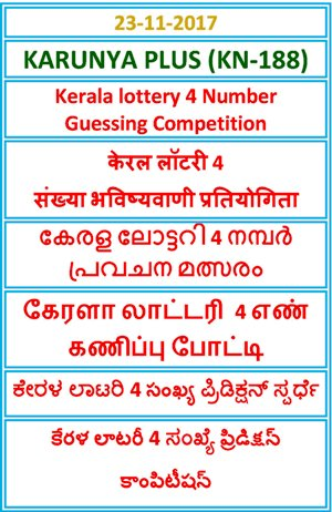 4 Number Guessing Competition KARUNYA PLUS KN-188