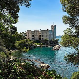 The beautiful Castello di Miramare near Trieste, where Prince Amedeo's daughter Maria Christina was born