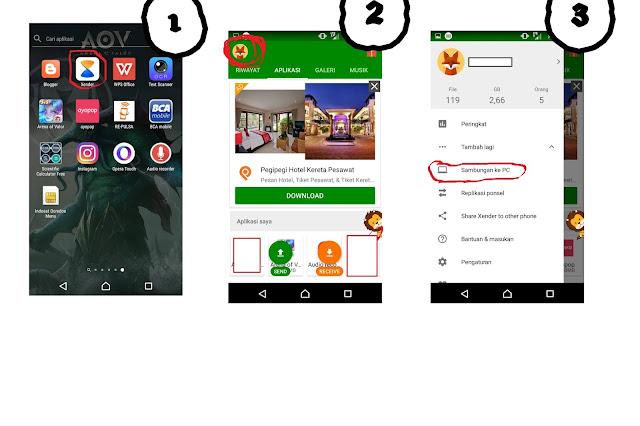 Cara Mengoneksikan File data Android dengan PC Lewat Aplikasi Xender