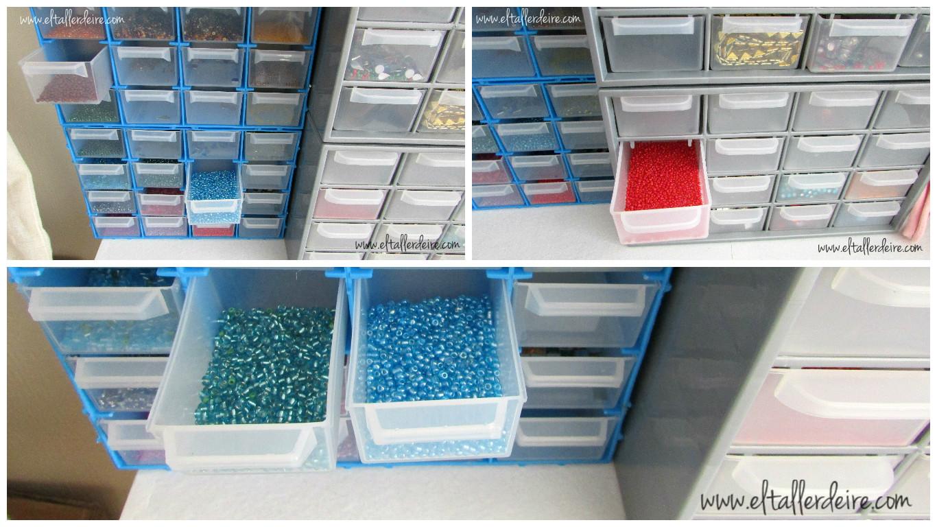 El taller de ire 10 ideas para organizar tu taller de for Cajoneras de plastico