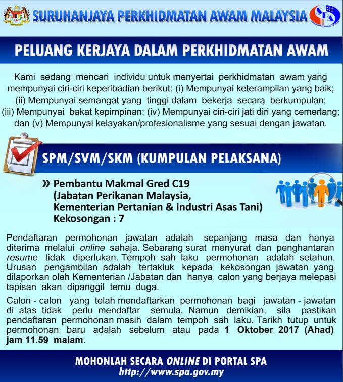 Jawatan Kosong Kerajaan Pembantu Makmal Gred C19 Jawatan Kosong Terkini Negeri Sabah