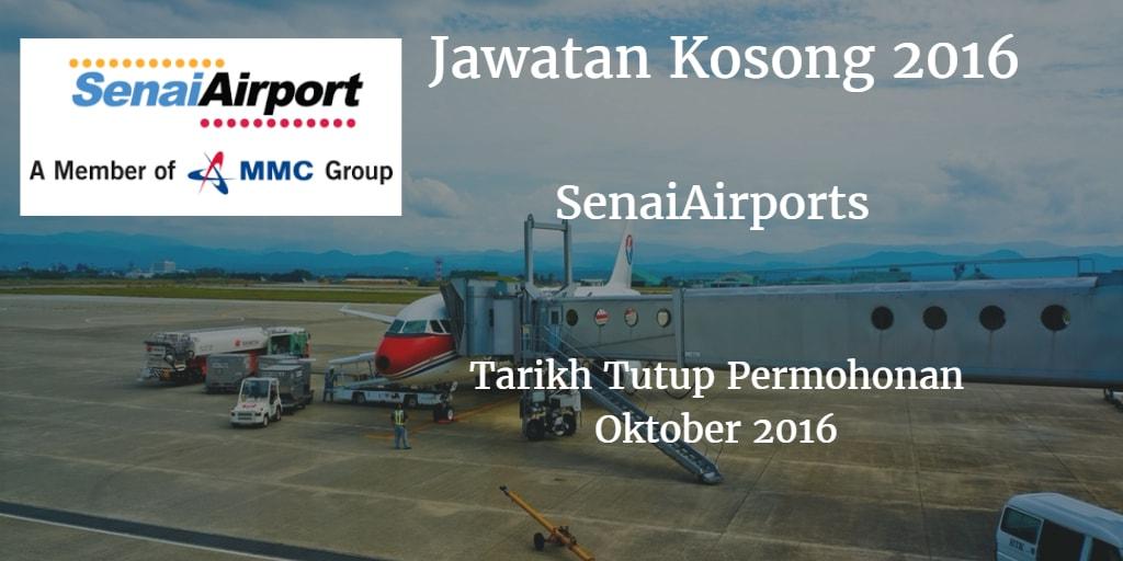Jawatan Kosong SenaiAirports Oktober 2016