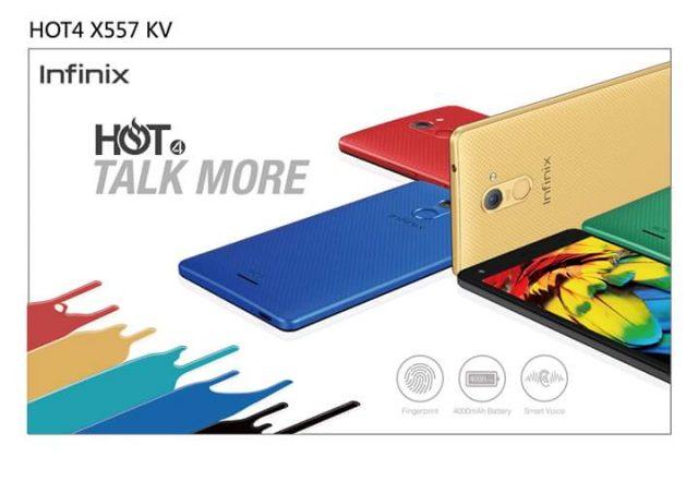 Infinix Hot 4 Specs Affordable Fingerprint Device