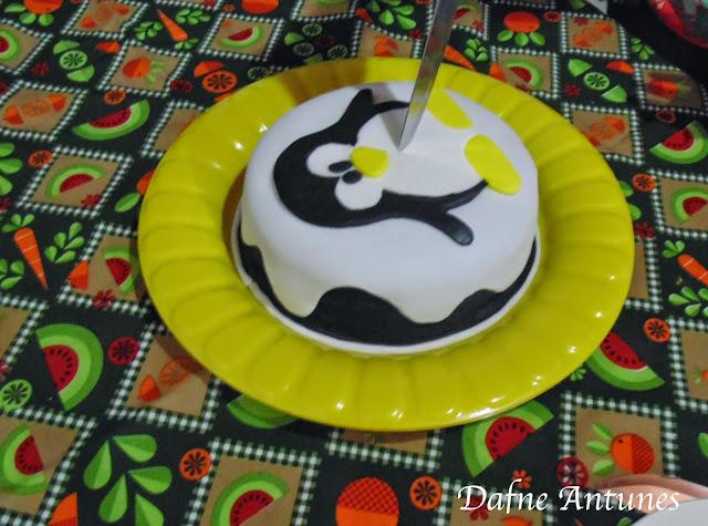 Bolo do Tux (Linux) de pasta americana - fondant cake