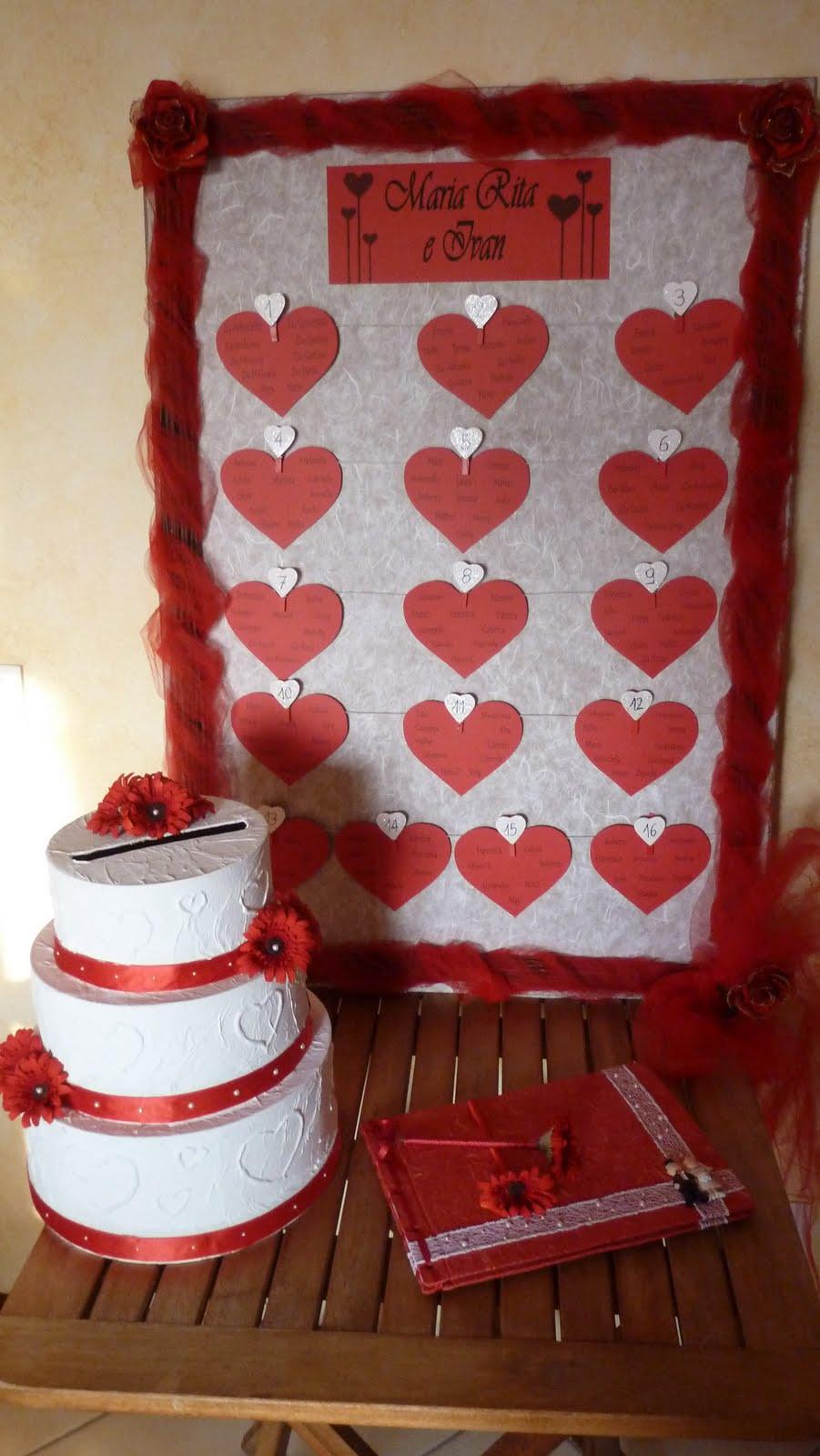 Favoloso Wedding tema cuori: come fare tableau? - Página 2 - Organizzazione  VD37