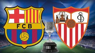 مشاهدة مباراة برشلونة واشبيلية بث مباشر 21/4/2018 اون لاين نهائي كاس ملك اسبانيا