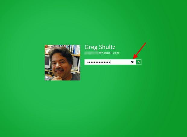 Tắt chức năng hiển thị mật khẩu trong Windows 8 khi đăng nhập