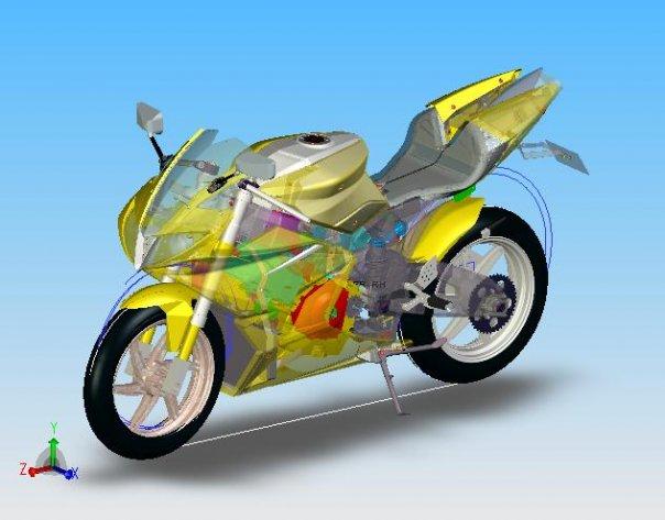 Fischer MRX Motorbike CAD drawing