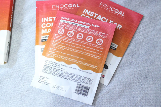 procoal blog review, procoal review, pro coal sheet mask review, pro coal brand, instaclear control mask