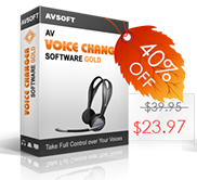 Coupon 40% for Voice Changer Software Gold - Black Friday 2013 sales