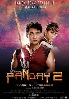 Panday 2 is a 2011 Filipino fantasy film directed by Mac Alejandre. Starring Ramon Bong Revilla Jr., Marian Rivera, Phillip Salvador, and Eddie Garcia.