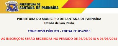 Concurso Prefeitura de Santana de Parnaíba - SP