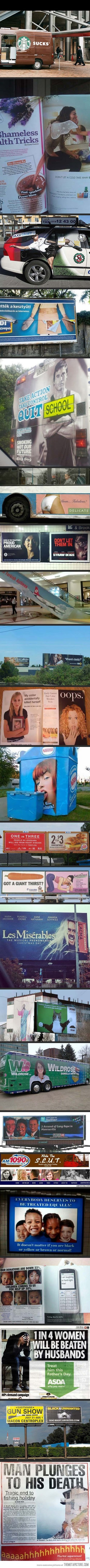 Funny Unfortunate Adverts Collection Joke Picture