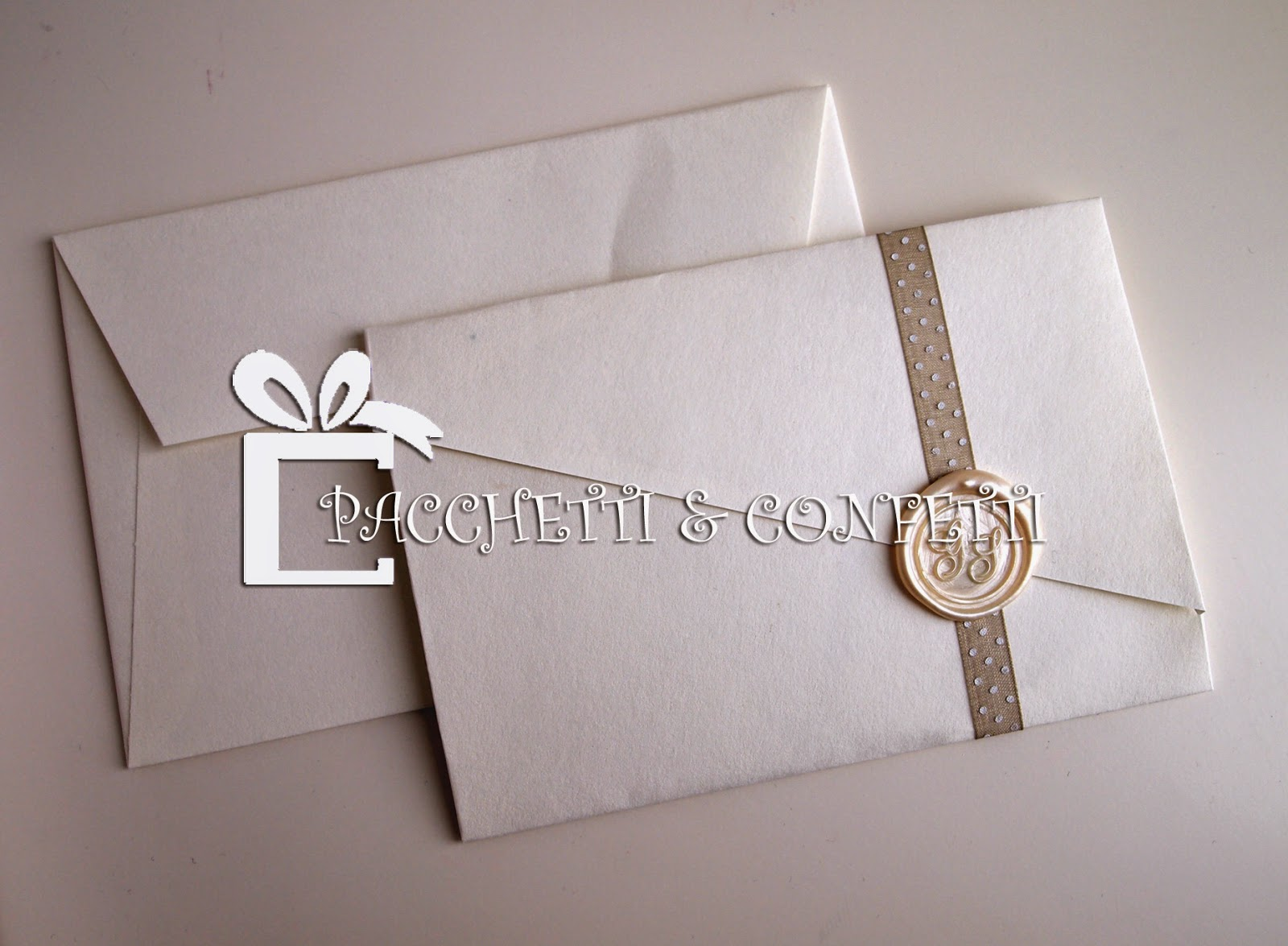 Partecipazioni Matrimonio Ceralacca.Pacchetti E Confetti Partecipazioni Matrimonio Con Sigillo Ceralacca