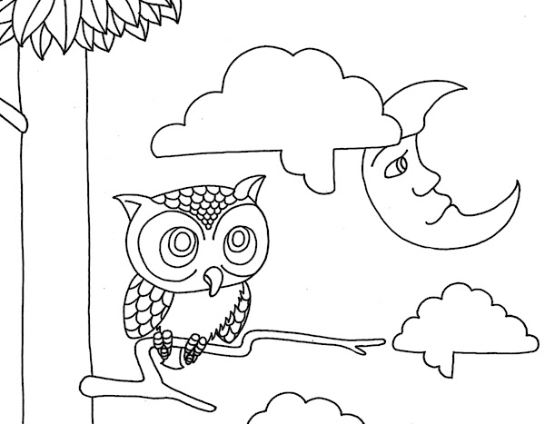 Printable Adult Coloring Pages Owls