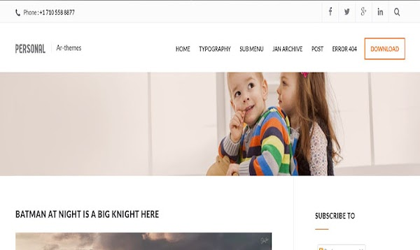 Chia sẻ Personal Mag Blogger Template