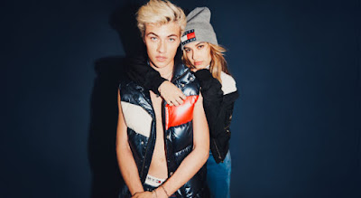Lucky Blue Smith and Hailey Baldwin in Tommy Jeans's fall 2016 campaign. Photo: Tommy Hilfiger