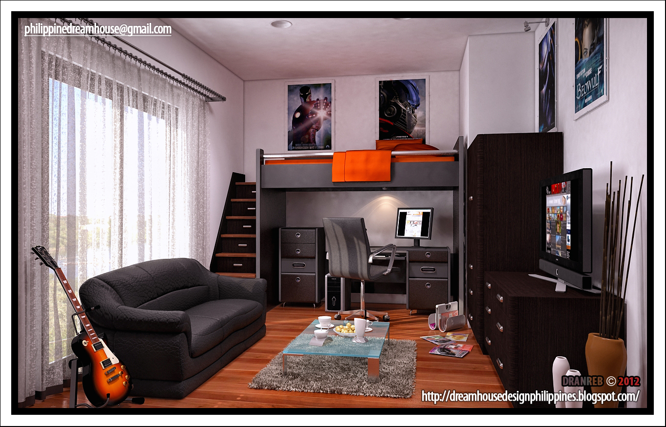 Boy 39 s room house design - Cool rooms for guys ...
