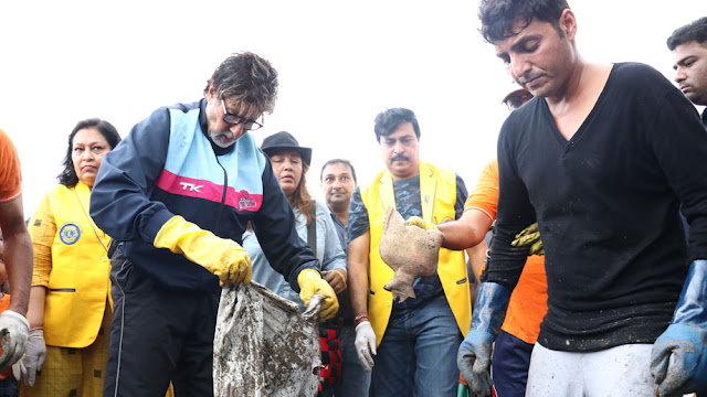 Afroz shah is leader of largest beach clean-up project in versova beach, mumbai