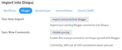 Import comments from blogger