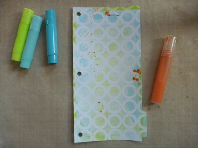How to Add Color to a Resist Album Page with Homemade Gelato Mist by Dana Tatar