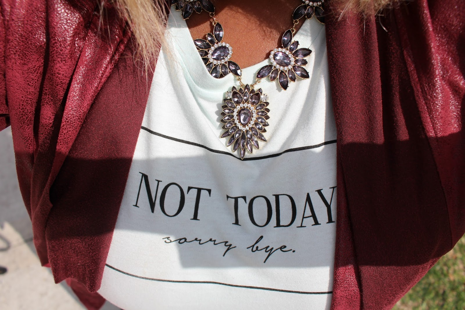 Not Today Sorry Bye T-Shirt via Live Life in Style
