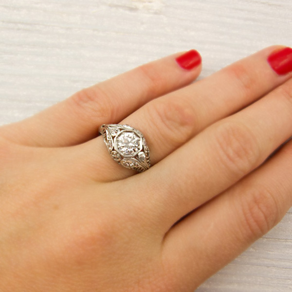 Erstwhile Jewelry Antique Engagement Ring 6186 - {Frosted Find}  Erstwhile Jewelry