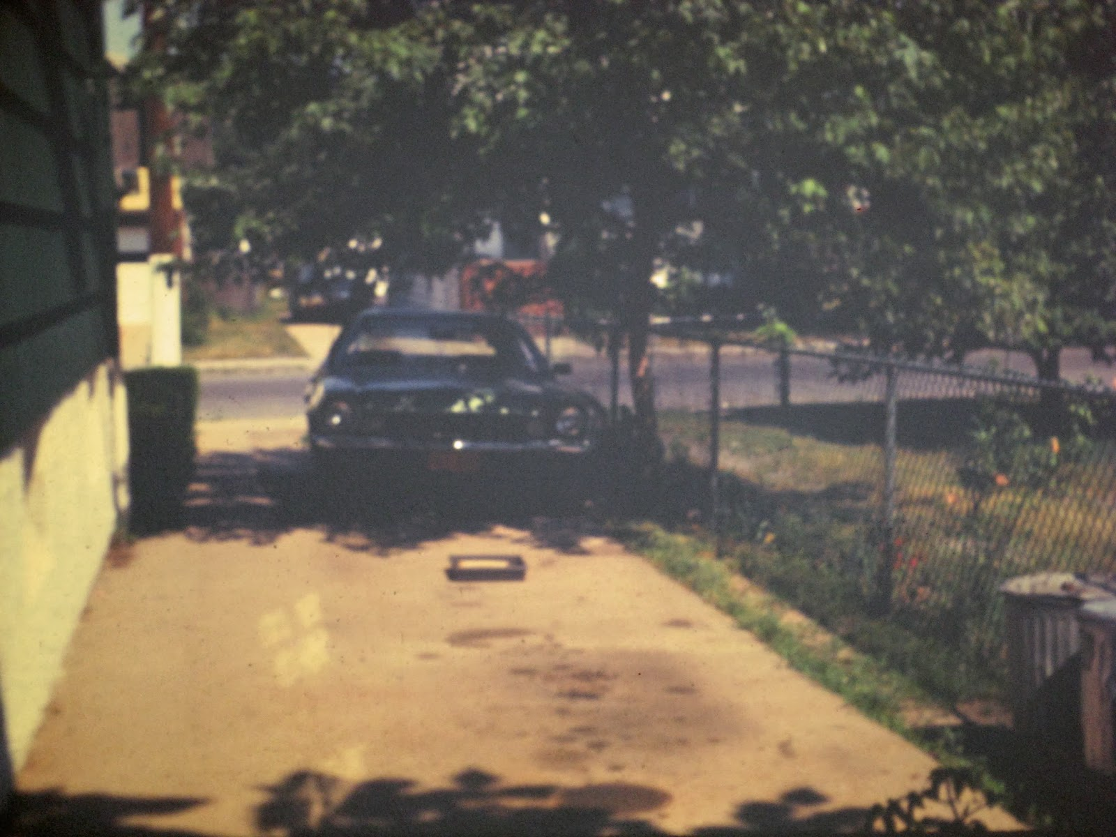 336 Simonson driveway with old Pinto in it... LoL July 1976