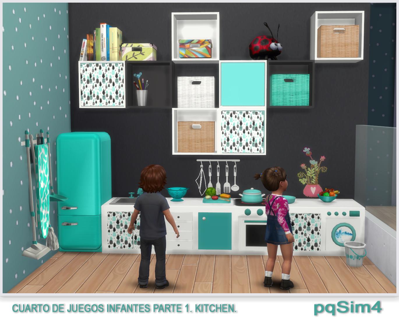 Cuarto de juegos para infantes parte 1 kitchen sims 4 for Cuartos para ninos sims 4